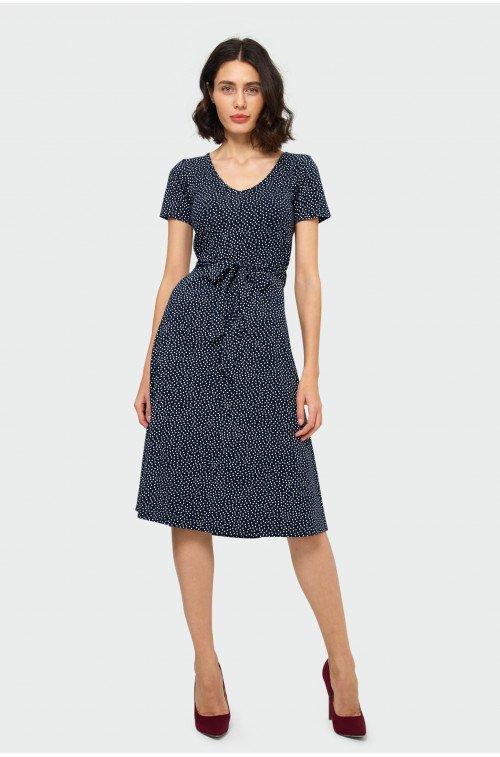 elegancka sukienka rozkloszowana
